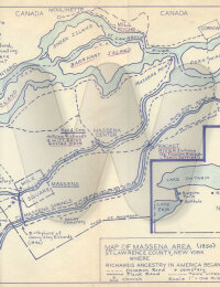 Map of Massena New Your area where Richards Lived