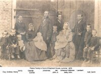 Peters Family in front of the Elephant House at Apeldoorn 1876