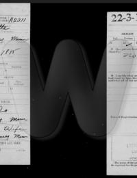 WW I Draft Registration