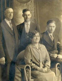Guy, Louis, Del and Lizzie Peters May 8, 1927