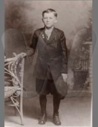 Delmar Peters, son of Guy and Lizzie Peters, 1918