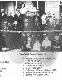 Peters Famly Reunion Waupun Wisc 1904